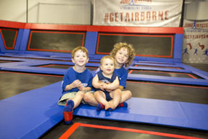 Activiites for smilling children - trampoline park at Jumpmasters in Manteo NC